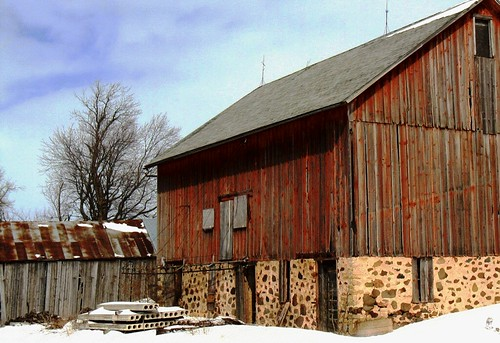 back of the barn and shed