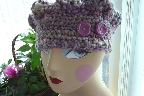 FO: Crochet handspun beret