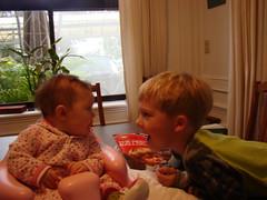 Sadie, 4 months, Jonas, 6