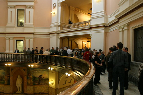 overflow crowd spills into rotunds