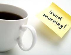 Coffee (Benko Zsolt) Tags: morning white hot cup coffee yellow breakfast sticker message notice drink coffeecup tasty note delicious lazy memo memory espresso taste wakeup caffeine goodmorning liquid laziness wakingup aroma hotdrink notification memostick