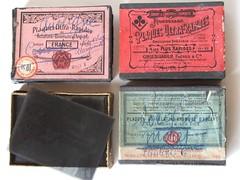 Boîtes de plaques de verre photographiques