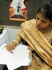 a first attempt (rumana husain) Tags: selfportrait art march teaching teachers karachi attempt 08 confidence artworkshop