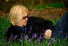 Mark in the bluebells