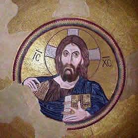 Mosaico Cristo, Dafni, Grecia