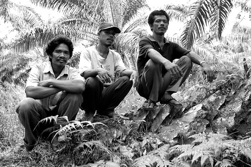 Three Chiefs of the Orang Rimba - B&W