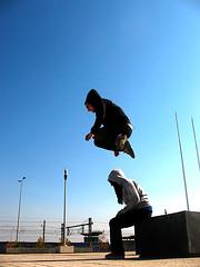 El salto del fito... () Tags: jump bodylanguage urbano javi fito parkour