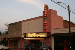 full sideview of cherokee theatre, evening