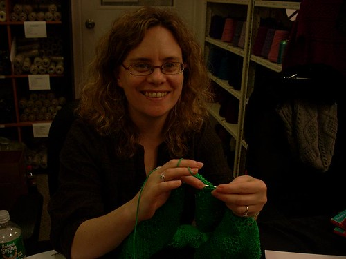 Stephanie guest knitting