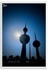Kuwait Tower [Silhouette] (Hussain Shah.) Tags: city d50 palms nikon towers silhouettes sigma kuwait 1020mm kuwaiti shah hussain aplusphoto muwali