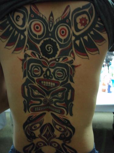 Beach 11 Totem pole tattoo