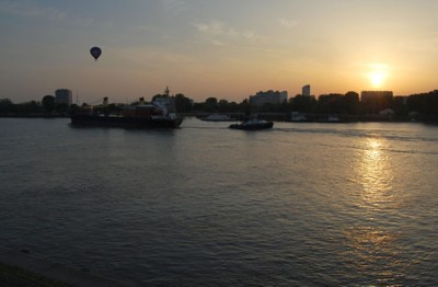 Sunset at the Schelde river