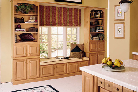 Window Seat From Kitchen Cabinets