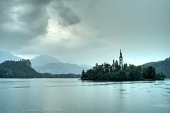 Lake Bled (lassi.kurkijarvi) Tags: lake alps rain julian monastery slovenia bled