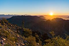 Squaw Peak (M3tr1c) Tags: piestewa peak park arizona squaw scottsdale phoenix summit mountain landscape city dawn sunrise sunset cliff rocks desert cactus sonoran
