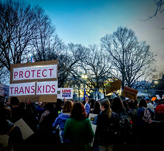 2017.02.22 ProtectTransKids Protest, Washington, DC USA 01083