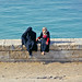 Alexandria Women on Sea Wall - Egypt Study Abroad