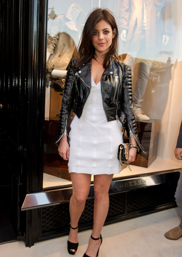 Julia Restoin-Roitfeld wearing Burberry