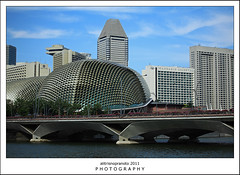 The Durians (ali trisno pranoto) Tags: blue singapore cityscape esplanade durian singapura durians clearday thedurians