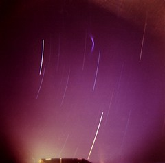 Holga Star Streaks 60 min (alternatePhotography) Tags: sky 120 night one star holga first hour try streaks portra 220 160nc