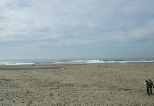 walking toward the ocean
