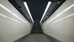 L1040102 (g_eu) Tags: barcelona leica underground metro centre tunnel passage simetric dlux3 geu noncolour
