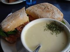 Salmon Sandwich at Memories