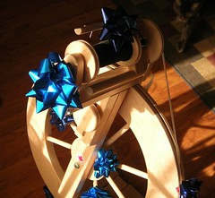 Birthday-ribboned wheel.JPG