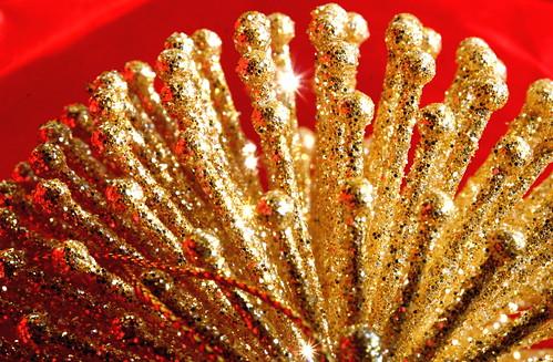 glittery ornament