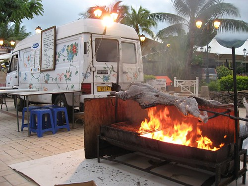Before: Les Roulettes (food trucks) in Papeete, Tahiti