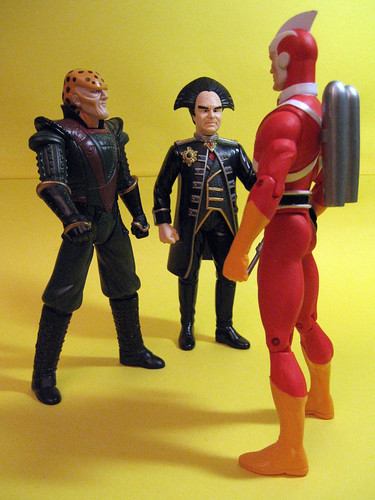 G'Kar and Londo with Adam Strange