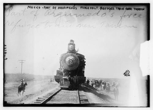 Mexico - part of Argumedo's Force Halt Refugee Train near Torreon (LOC)