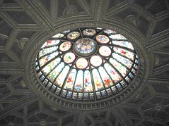 Stained Glass dome ceiling in HoF