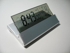 Foldable See-Through LCD Clock