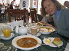 Eating Scottish fare in the tea ro…