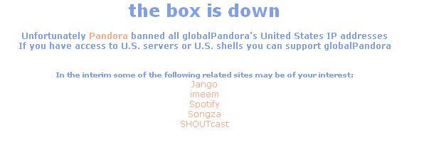 globalpandora down