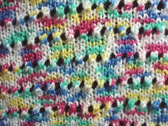 Close up of LOVELY blanket from Sara