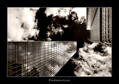 Perpendicular VIII (Philipp Klinger Photography) Tags: windows sky white black glass metal sepia clouds skyscraper reflections germany deutschland hessen frankfurt bank perpendicular hesse dresdner skyper theunforgettablepictures dcdead