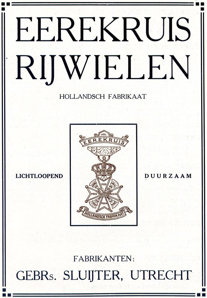 Dutch Bicycle History: Eerekruis Rijwielen