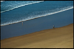 Mother & Daughter... wide shot (david slauson) Tags: uk beach wales nikon surf daughter mother f100 motherhood flickrsbest abigfave superbmasterpiece blueribbonwinnder
