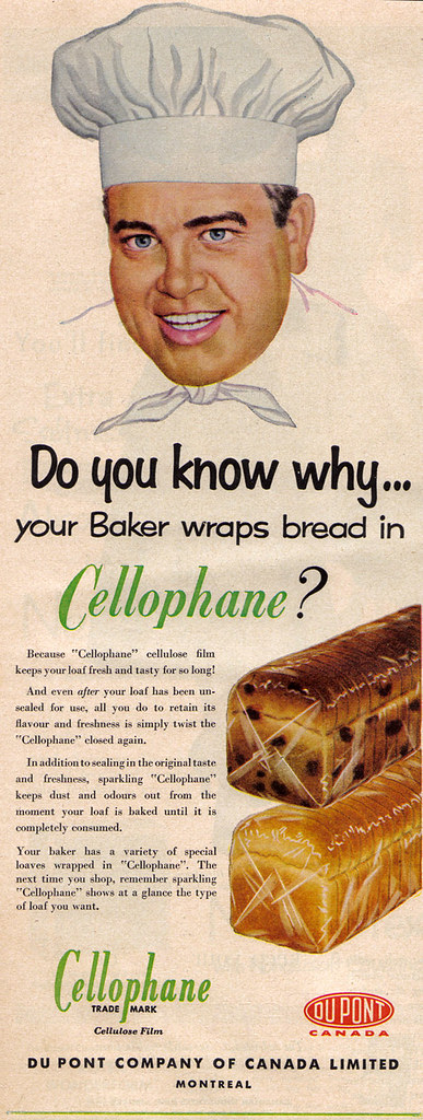 Vintage Ad #491: Your Baker Trusts Cellophane