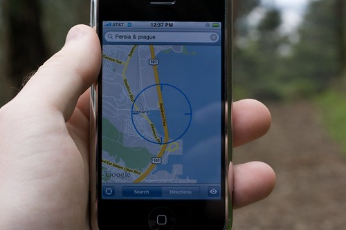 iPhone running Google Maps. Photo: Marcin Wichary / Flickr Creative Commons