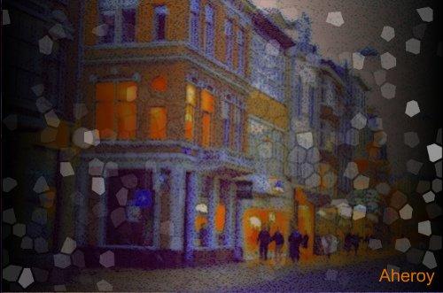 City Lights,stad,Groningen,the Netherlands