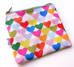 Colorful Hearts Zipper Pouch