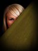 Behind the veil (Rune T) Tags: portrait green eye texture girl hair soft veil angle carina cloth hiding vignette bisected blueribbonwinner diamondclassphotographer