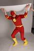 Model wearing Flash costume - original shot