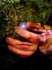 The Touch (Eddi van W.) Tags: light woman selfportrait love beauty poster creativity energy touch joy digitalart gimp creativecommons ritual meditation spirituality frau spiritual breathtaking deepness kreativität artisticexpression tiefe spiritualität öffnung eddi07 ruthram
