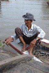 The wizened boatman