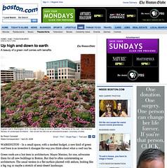 Shot of mine featured in the Boston Globe (drewsaunders) Tags: work screenshot screengrab vanity greenroof bostonglobe asla allisvanity featuredon