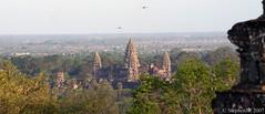 The sun sets on Angkor Wat... (StephenJR) Tags: sunset sky birds temple ruins asia cambodia angkorwat siemreap pub1